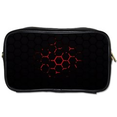 Abstract Pattern Honeycomb Toiletries Bags 2 Side by BangZart