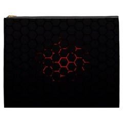 Abstract Pattern Honeycomb Cosmetic Bag (xxxl)