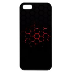 Abstract Pattern Honeycomb Apple Iphone 5 Seamless Case (black)
