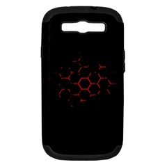 Abstract Pattern Honeycomb Samsung Galaxy S Iii Hardshell Case (pc+silicone)