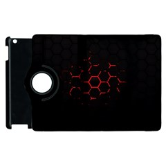 Abstract Pattern Honeycomb Apple Ipad 2 Flip 360 Case by BangZart