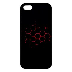 Abstract Pattern Honeycomb Iphone 5s/ Se Premium Hardshell Case by BangZart