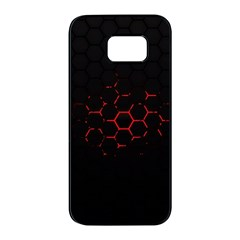Abstract Pattern Honeycomb Samsung Galaxy S7 Edge Black Seamless Case by BangZart