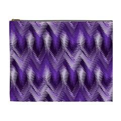 Purple Wavy Cosmetic Bag (xl) by KirstenStar