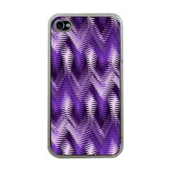 Purple Wavy Apple Iphone 4 Case (clear) by KirstenStar