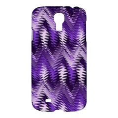 Purple Wavy Samsung Galaxy S4 I9500/i9505 Hardshell Case by KirstenStar