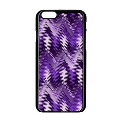 Purple Wavy Apple Iphone 6/6s Black Enamel Case by KirstenStar