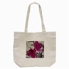 Vintage Style Flower Photo Tote Bag (cream) by dflcprints