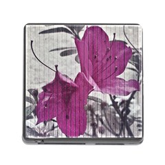 Vintage Style Flower Photo Memory Card Reader (square) by dflcprints