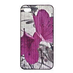 Vintage Style Flower Photo Apple Iphone 4/4s Seamless Case (black) by dflcprints