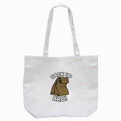 Sack Up Bro Tote Bag (white) by derpfudge