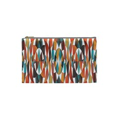 Colorful Geometric Abstract Cosmetic Bag (small)  by linceazul
