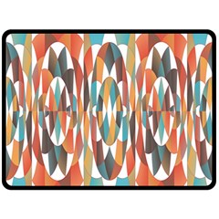 Colorful Geometric Abstract Fleece Blanket (large)  by linceazul