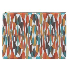 Colorful Geometric Abstract Cosmetic Bag (xxl)  by linceazul