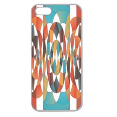 Colorful Geometric Abstract Apple Seamless Iphone 5 Case (clear) by linceazul