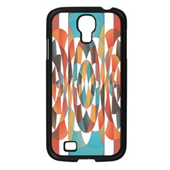 Colorful Geometric Abstract Samsung Galaxy S4 I9500/ I9505 Case (black) by linceazul