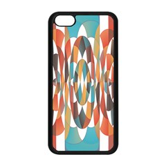 Colorful Geometric Abstract Apple Iphone 5c Seamless Case (black) by linceazul