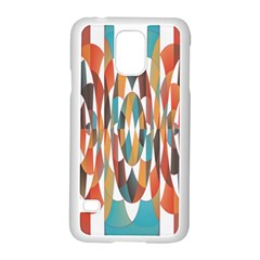 Colorful Geometric Abstract Samsung Galaxy S5 Case (white) by linceazul