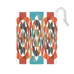 Colorful Geometric Abstract Drawstring Pouches (large)  by linceazul