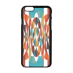 Colorful Geometric Abstract Apple Iphone 6/6s Black Enamel Case by linceazul