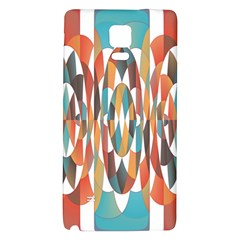 Colorful Geometric Abstract Galaxy Note 4 Back Case by linceazul