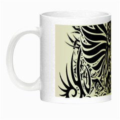 Tattoo Tribal Owl Night Luminous Mugs by Valentinaart