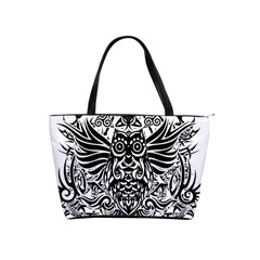 Tattoo Tribal Owl Shoulder Handbags by Valentinaart
