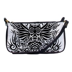 Tattoo Tribal Owl Shoulder Clutch Bags by Valentinaart