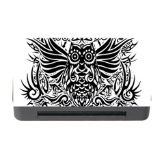 Tattoo Tribal Owl Memory Card Reader With Cf by Valentinaart