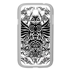 Tattoo Tribal Owl Samsung Galaxy Grand Duos I9082 Case (white) by Valentinaart