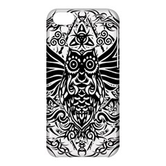 Tattoo Tribal Owl Apple Iphone 5c Hardshell Case by Valentinaart