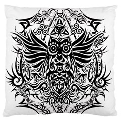 Tattoo Tribal Owl Standard Flano Cushion Case (two Sides) by Valentinaart