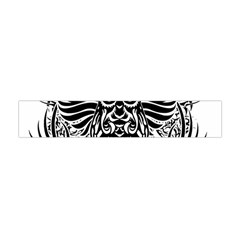 Tattoo Tribal Owl Flano Scarf (mini) by Valentinaart