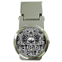 Tattoo Tribal Street Art Money Clip Watches by Valentinaart