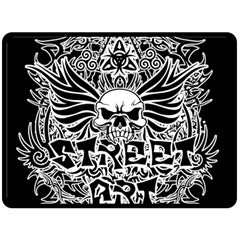 Tattoo Tribal Street Art Fleece Blanket (large)  by Valentinaart