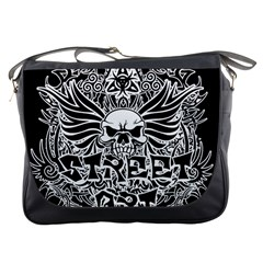 Tattoo Tribal Street Art Messenger Bags by Valentinaart