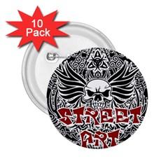Tattoo Tribal Street Art 2 25  Buttons (10 Pack)  by Valentinaart