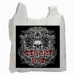 Tattoo Tribal Street Art Recycle Bag (two Side)  by Valentinaart