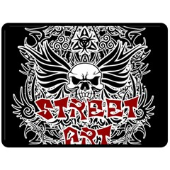Tattoo Tribal Street Art Fleece Blanket (large)  by Valentinaart