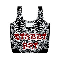 Tattoo Tribal Street Art Full Print Recycle Bags (m)  by Valentinaart
