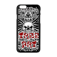 Tattoo Tribal Street Art Apple Iphone 6/6s Black Enamel Case by Valentinaart