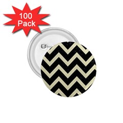 Chevron9 Black Marble & Beige Linen 1 75  Buttons (100 Pack)  by trendistuff