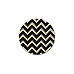Chevron9 Black Marble & Beige Linen Golf Ball Marker (10 Pack) by trendistuff