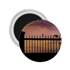 Small Bird Over Fence Backlight Sunset Scene 2 25  Magnets by dflcprints
