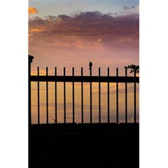 Small Bird Over Fence Backlight Sunset Scene 5 5  X 8 5  Notebooks by dflcprints