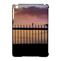 Small Bird Over Fence Backlight Sunset Scene Apple Ipad Mini Hardshell Case (compatible With Smart Cover) by dflcprints