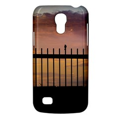 Small Bird Over Fence Backlight Sunset Scene Galaxy S4 Mini by dflcprints