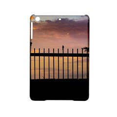 Small Bird Over Fence Backlight Sunset Scene Ipad Mini 2 Hardshell Cases by dflcprints