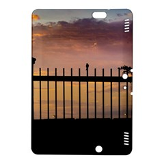 Small Bird Over Fence Backlight Sunset Scene Kindle Fire Hdx 8 9  Hardshell Case by dflcprints