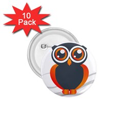 Owl Logo 1 75  Buttons (10 Pack) by BangZart